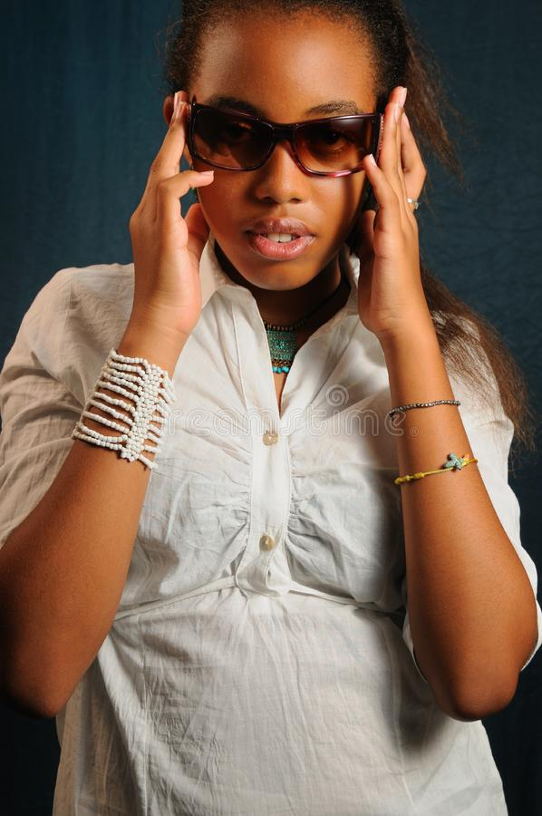 African fashion woman stock photo