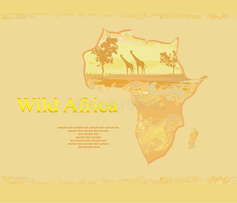 Download African fauna and flora stock illustration. Image of profile - 24280267