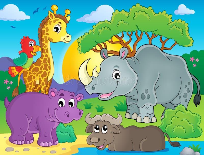 African fauna theme image 3. Eps10 vector illustration vector illustration