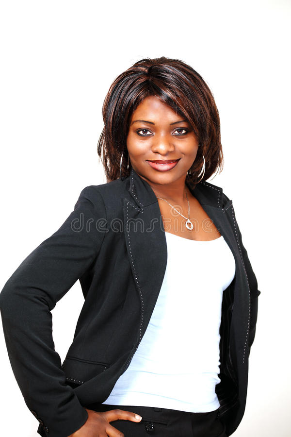 African female boss royalty free stock photo