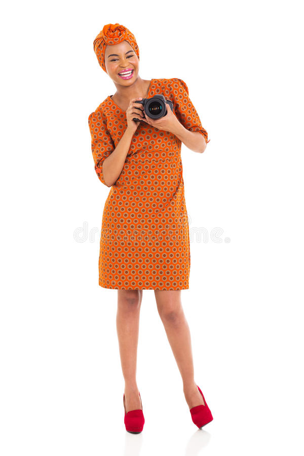 Download African Female Photographer Stock Image - Image: 35467589