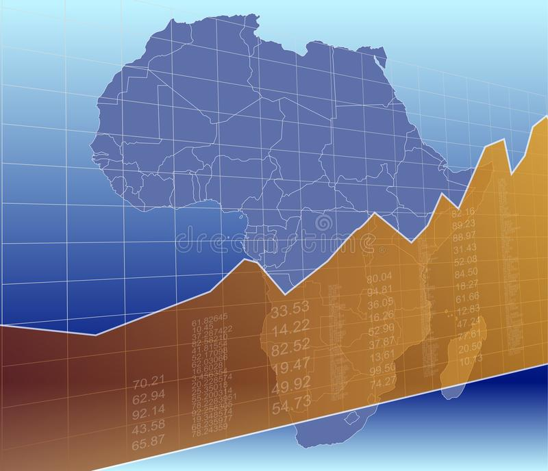 The African Finance and market, ascending, success.  vector illustration
