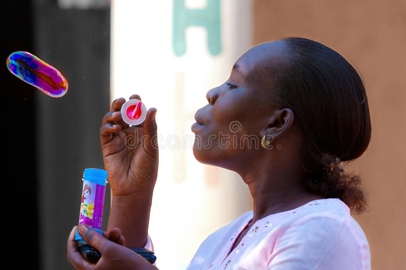 African girl,Bubbly woman. Bubbly woman - Malindi (Kenya), 6th October 2010 stock photo