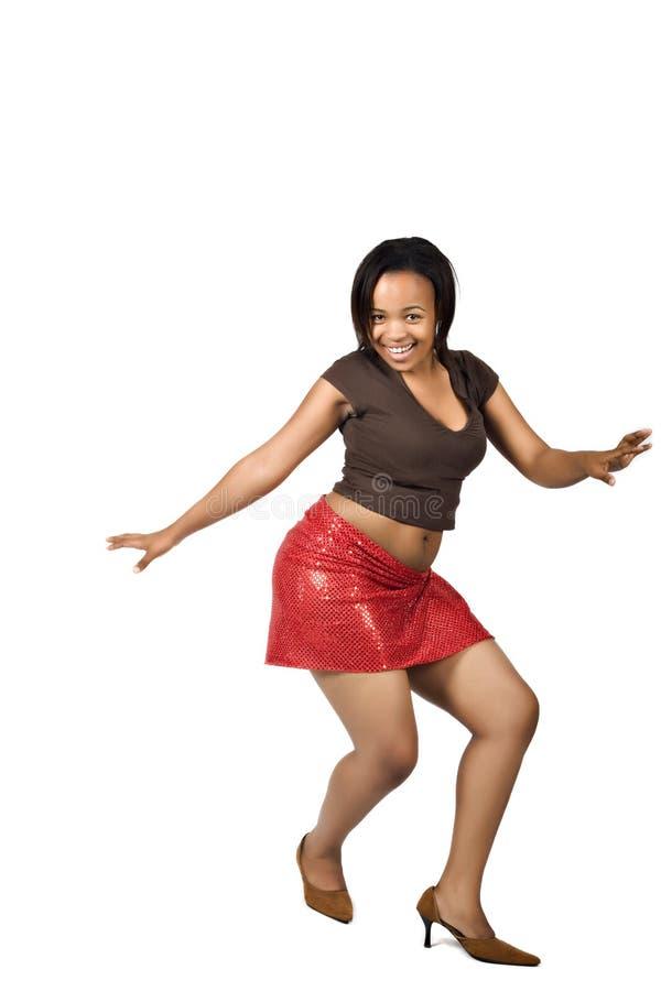 African girl dancing stock photo