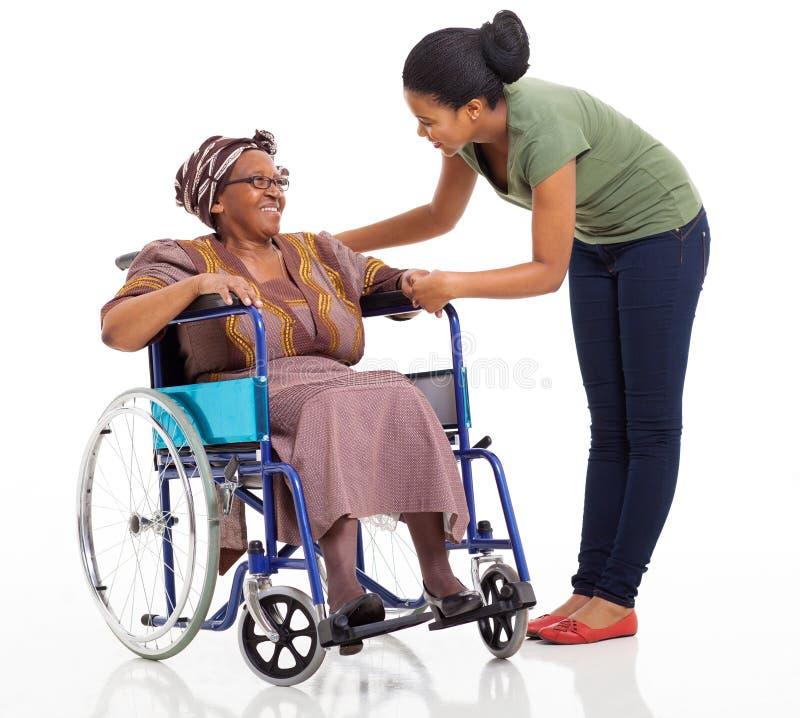 African girl disabled senior stock photos