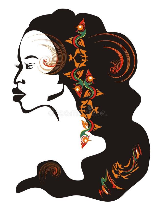 Download African Girl Face. Vector Illustration Stock Vector - Illustration: 20670605