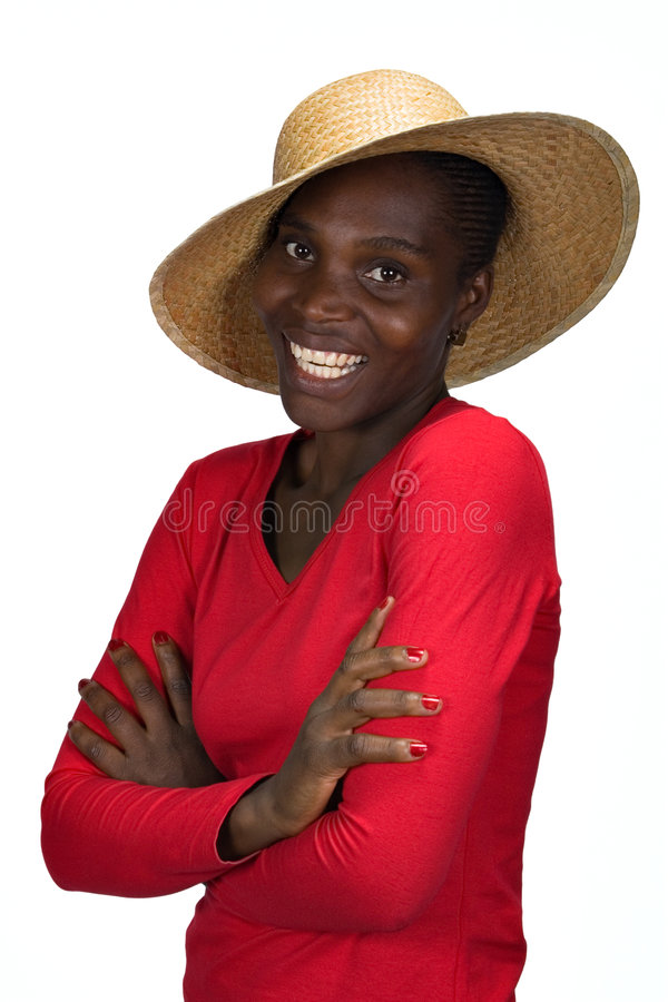 Download African girl with hat stock image. Image of fedora, face - 2250343