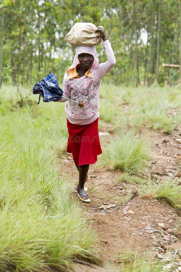 African girl - Rwanda royalty free stock images