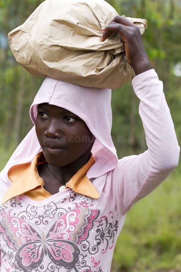 African girl - Rwanda stock photography