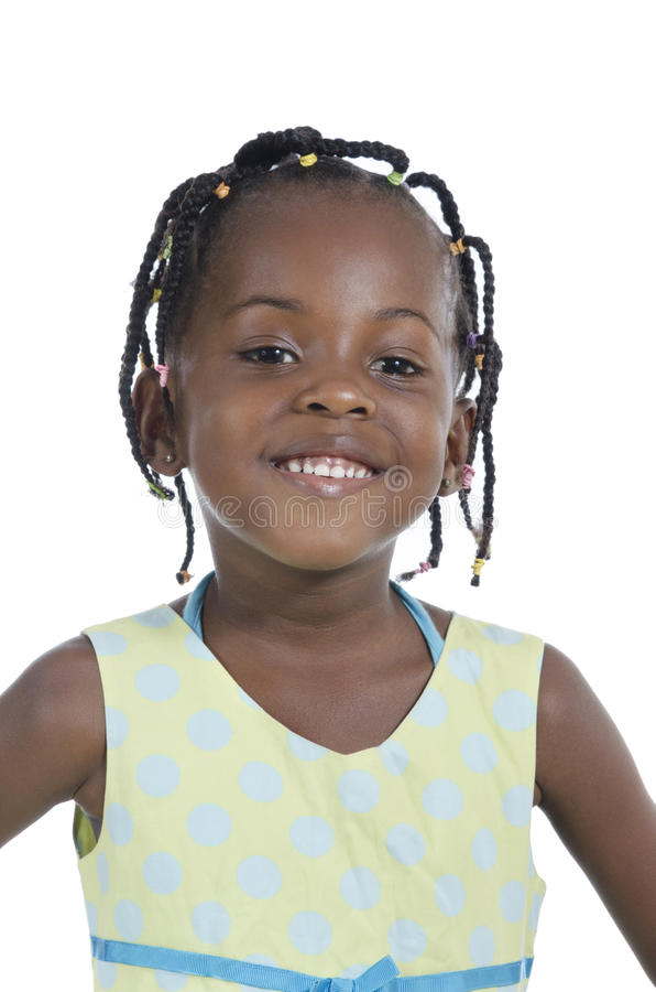 African girl smiling royalty free stock photos