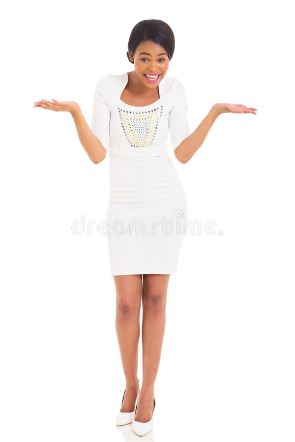 African girl surprising stock photography