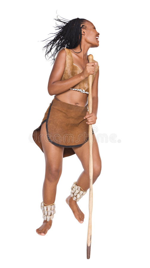 Download African girl warrior stock image. Image of dance, expression - 7888183