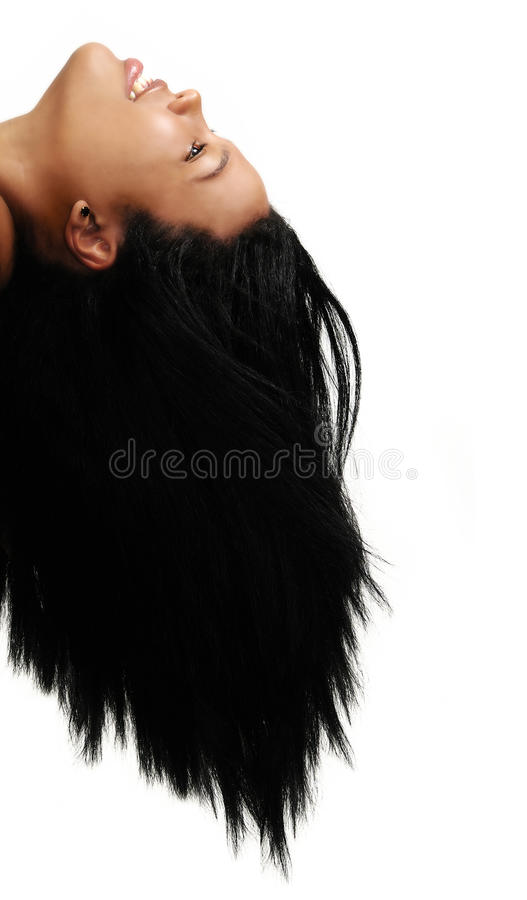 African hair beauty stock image