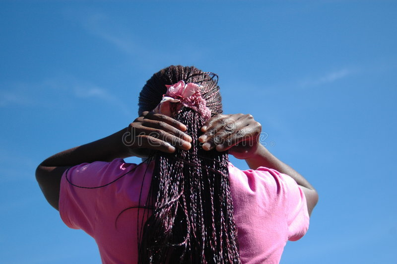 African hairstyle royalty free stock photography