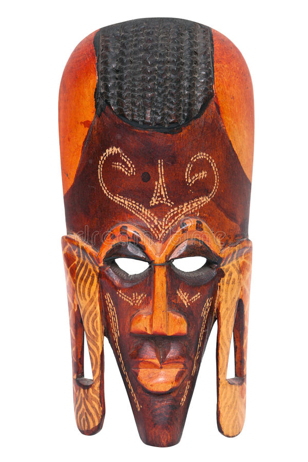 African Hand Carved Wooden Warrior Maasai Mask Royalty