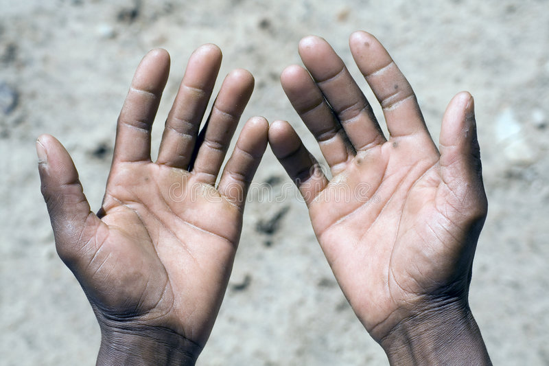 African Hands Stock Photo