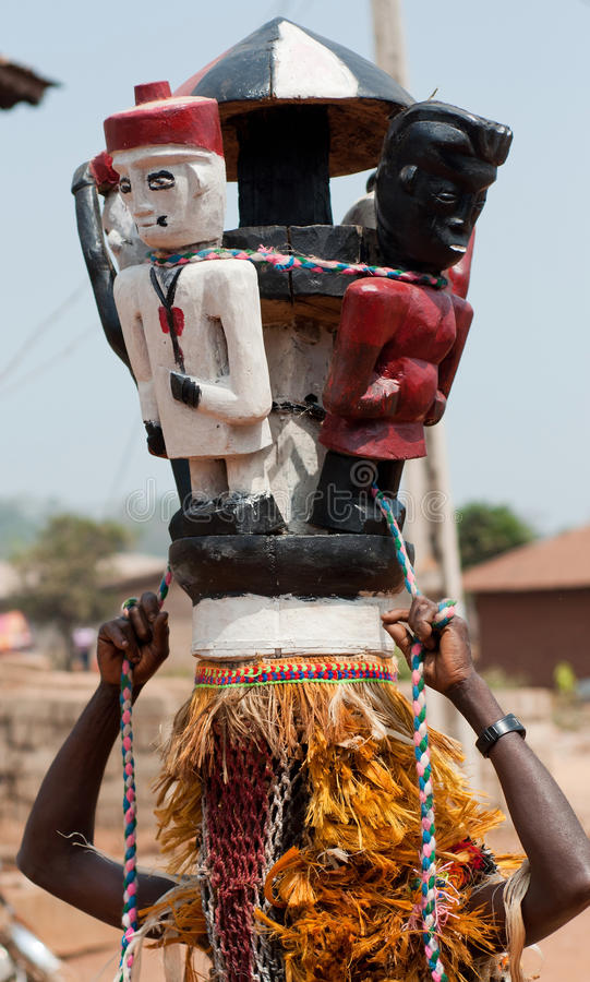 Download AFRICAN HELMET MASQUERADE stock image. Image of african - 33765517