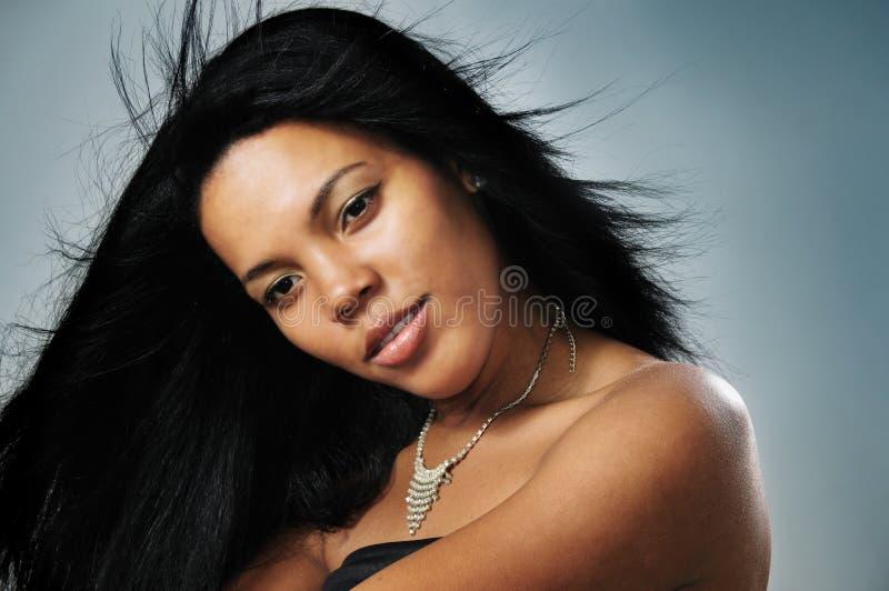 African hispanic model royalty free stock image