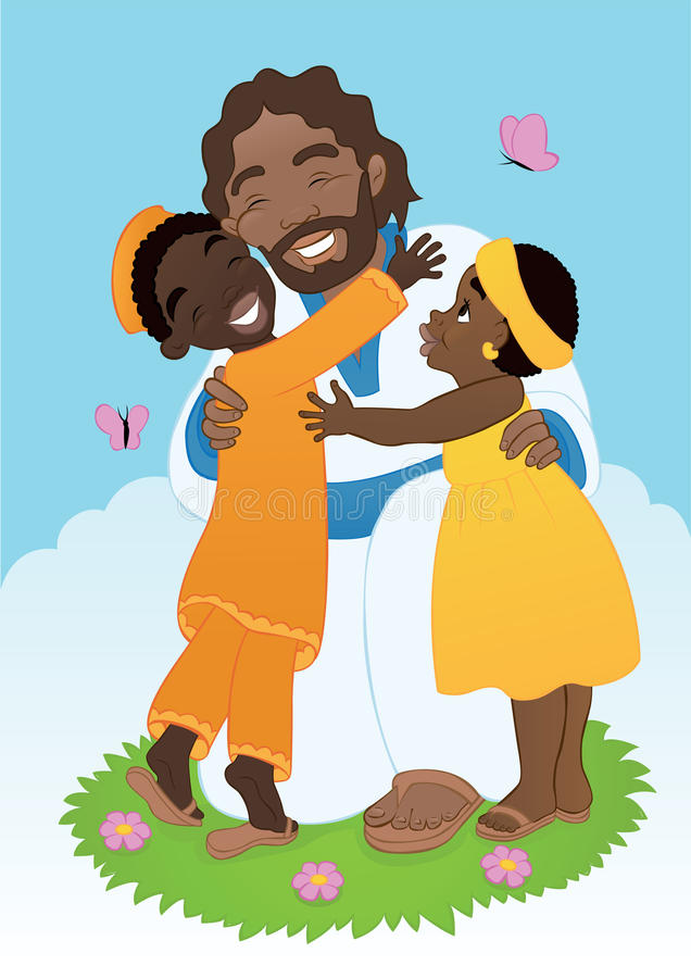 Download African Jesus With Children Stock Photo - Image: 42193563