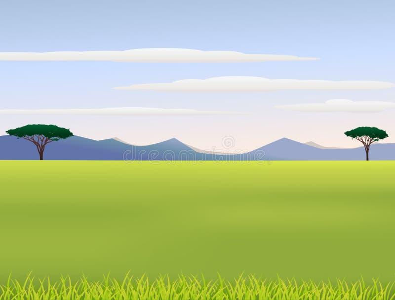 Download African landscape stock illustration. Image of herbivore - 25902221