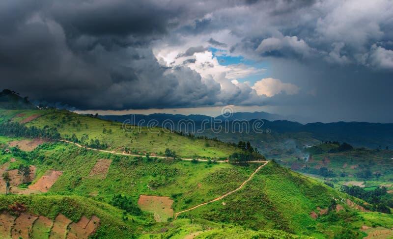 Download African Landscape, Rainy Season Stock Image - Image: 6381031