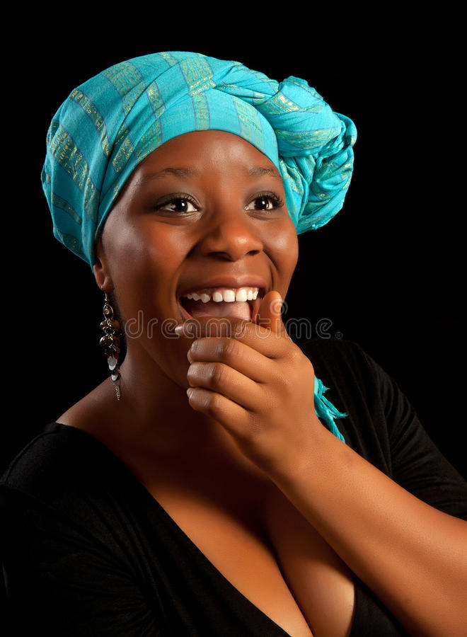African laughter royalty free stock photo