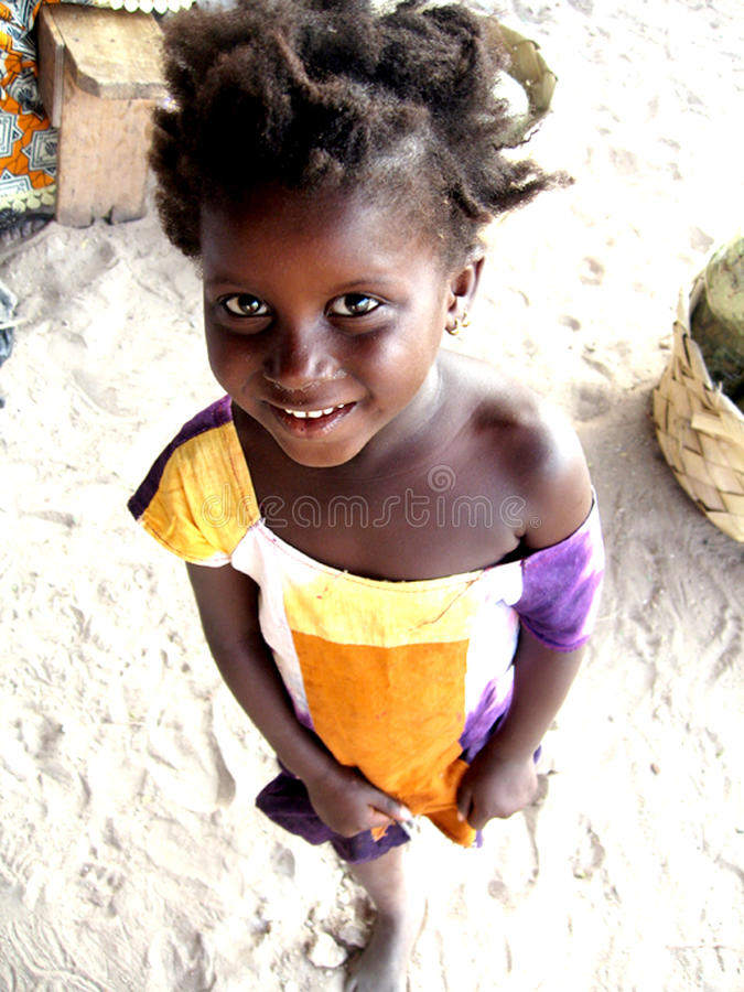 African little girl smile stock images