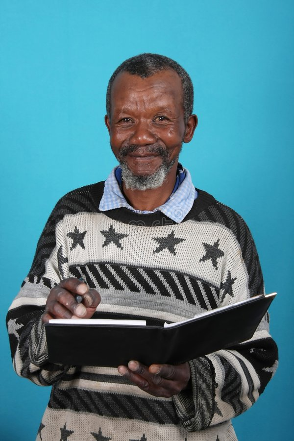 African Man and Book royalty free stock photos