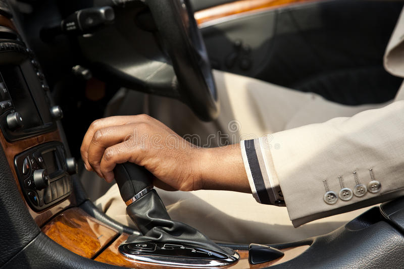 African man driving stock photography