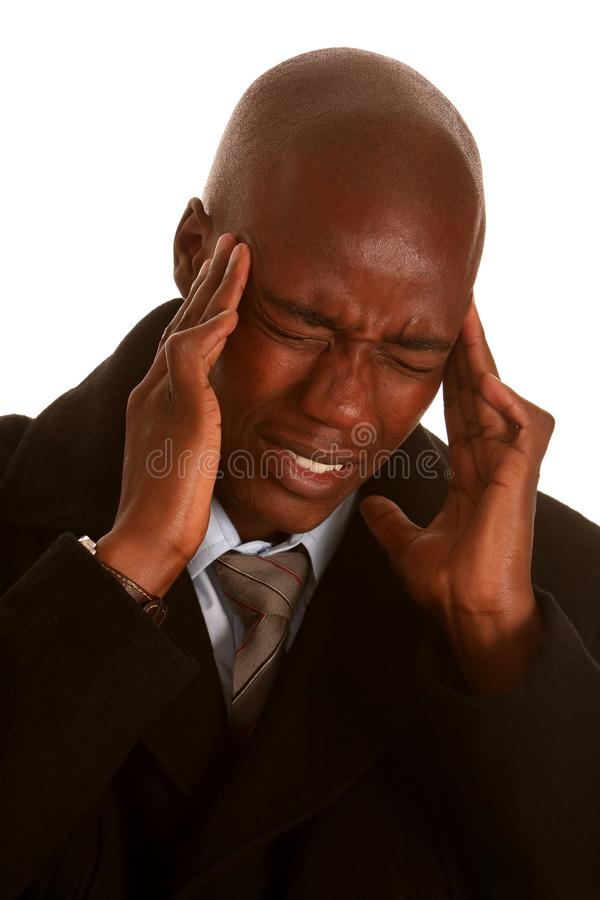 Download African Man with Headache stock image. Image of pain - 11998211