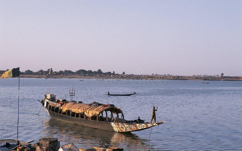Download African Man Pinnace Navigating The River Niger Editorial Stock Image - Image of finance, mopti: 42887384