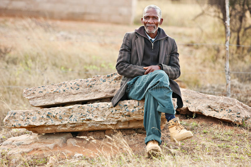 African man resting