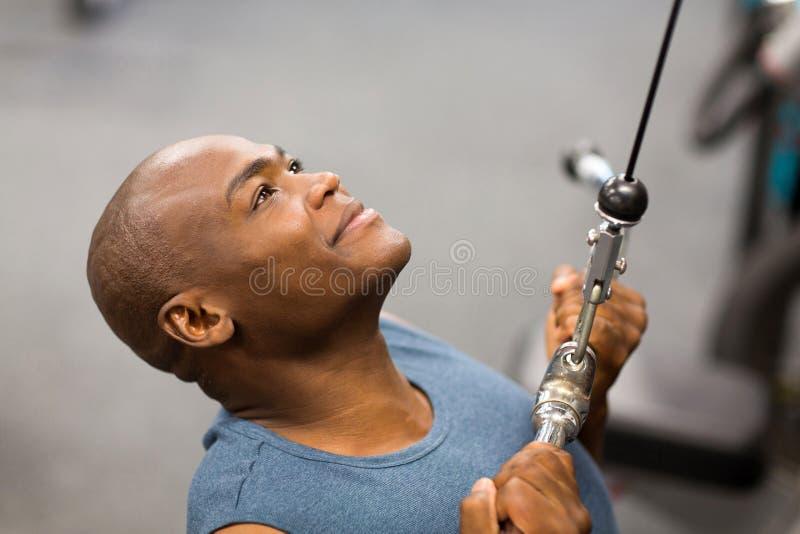 African man workout royalty free stock image