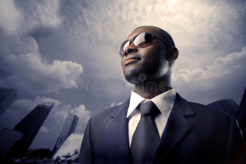 African manager royalty free stock photography