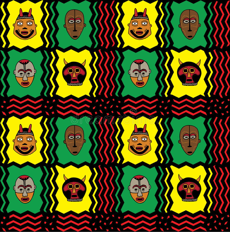 African Mask Background royalty free illustration