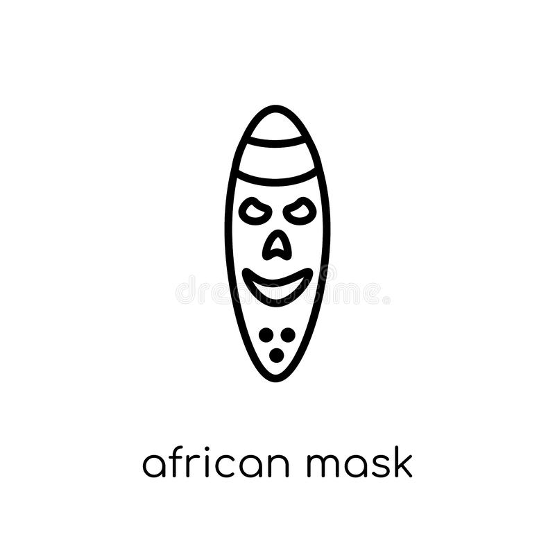 African mask icon from Museum collection. royalty free illustration