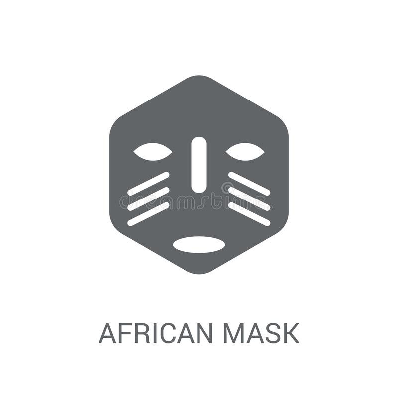 african Mask icon. Trendy african Mask logo concept on white background from Museum collection stock illustration