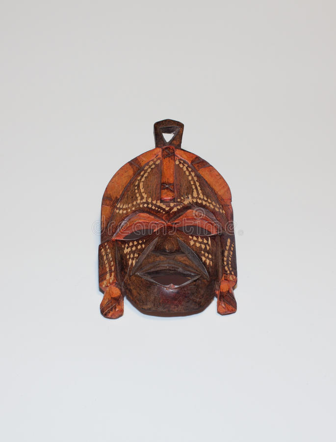 African mask. Traditional African Masai brown wooden mask stock photography