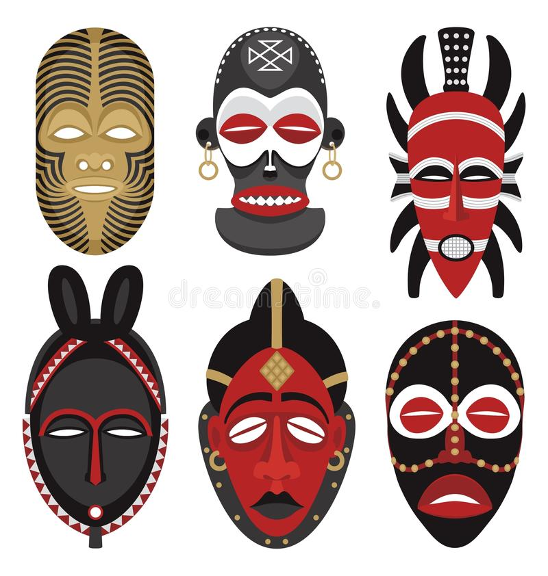Download African masks 2 stock vector. Illustration of africa - 10853855