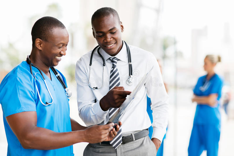 African medical doctors royalty free stock image