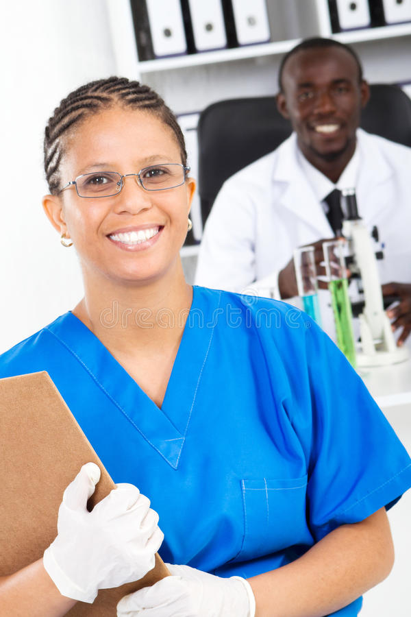 African medical researchers stock images