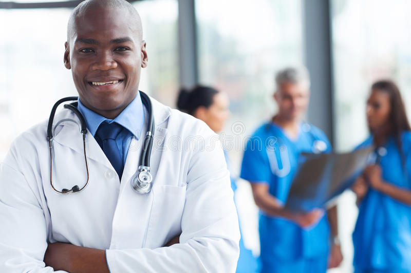 African medical surgeon royalty free stock photography