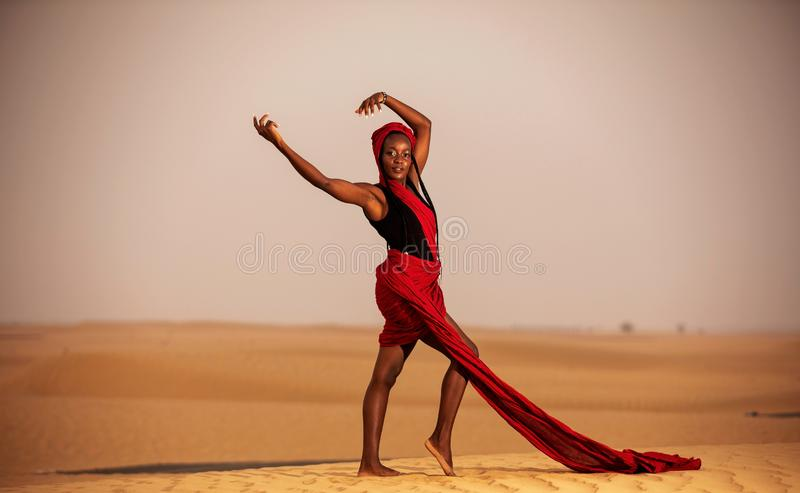 Red Desert Queen royalty free stock photography