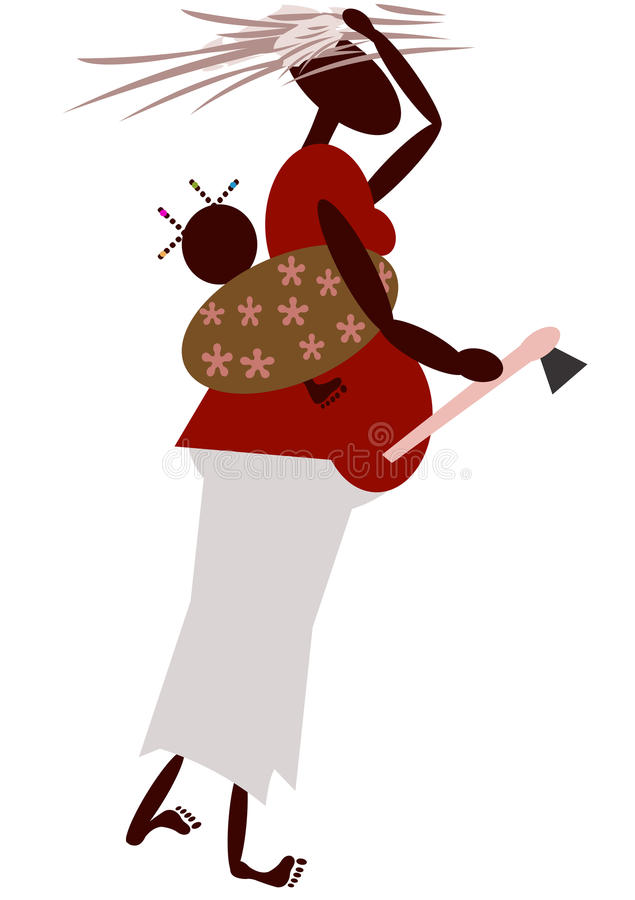 African Mother Royalty Free Stock Photography