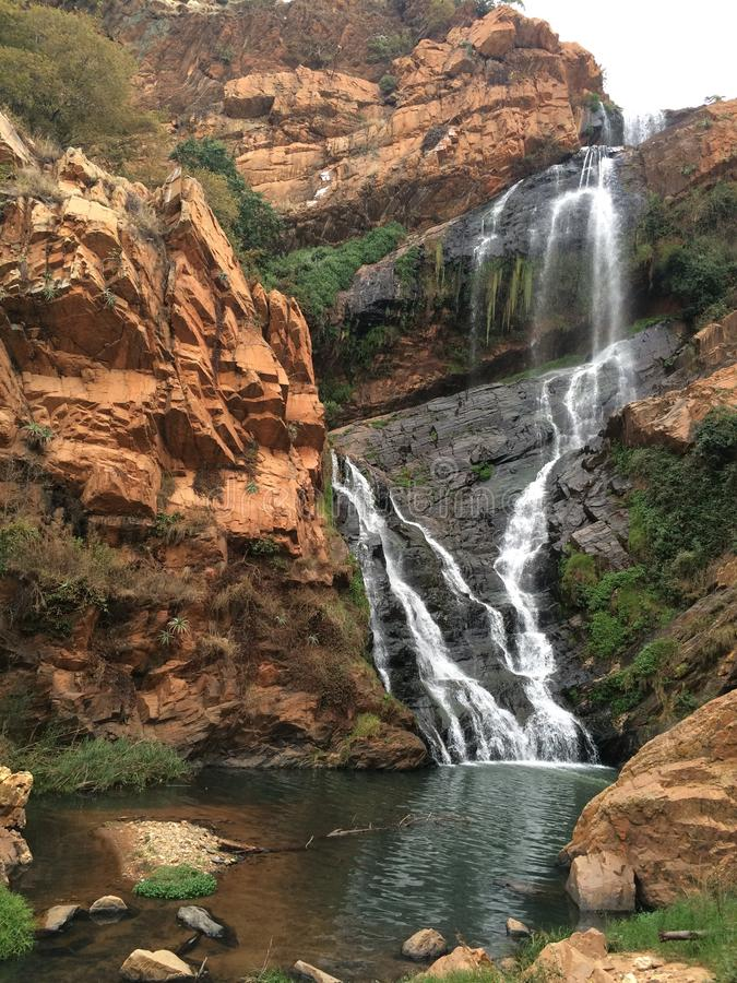 African Mountains - Mountains Lydenburg. African Mountains in the Mpumalanga South Africa. Light and shade on mountains with waterfalls from the mountains . A royalty free stock photos