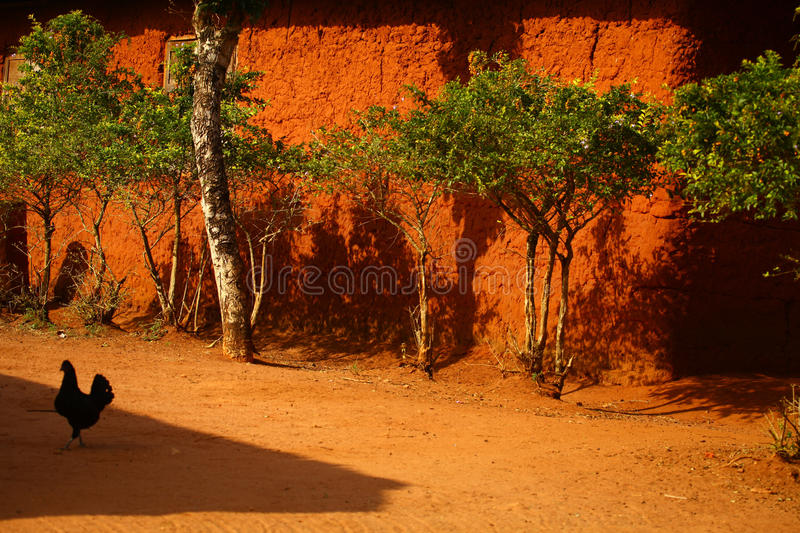 African Mud House royalty free stock image