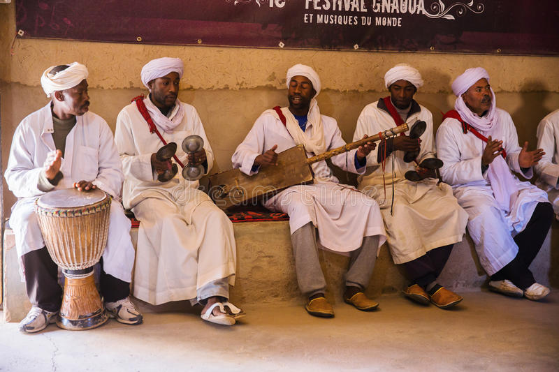 African music band. Playing in Morocco, Africa stock images