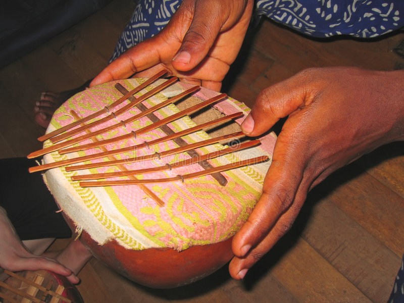 African musical instrument stock image