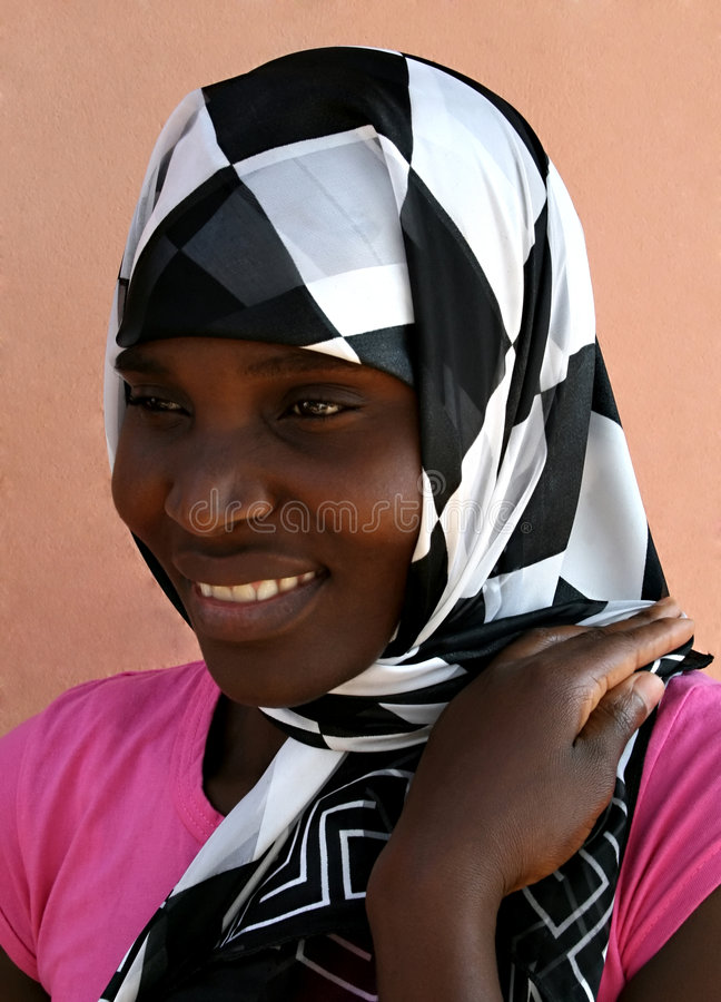 Download African muslim woman stock image. Image of attractive - 1490987