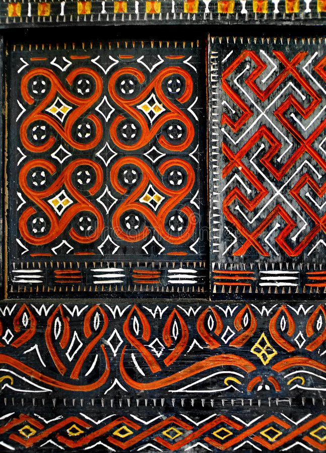 African native art on window royalty free stock photo